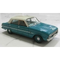 ACETF06BA 1962 Falcon XL Deluxe Sedan aqua with blue interior 1/43