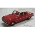 ACETF06BR 1962 Falcon XL Deluxe Sedan in red/white roof, red interior 1/43
