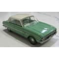 ACETF06BG 1962 Falcon XL Deluxe Sedan, green, white roof, green interior. 1/43