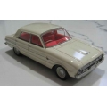 ACETF06BW 1962 Falcon XL Deluxe Sedan in white/red interior 1/43