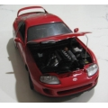 Kyoshu Toyota Supra red 1/18 a/mint. poor box