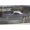 Greenlight 1970 Dodge Challenger Graveyard Carz purple/white 1/43 M/B
