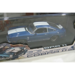 Greenlight 1976 Mustang 2 Cobra 11 blue/ white stripes 1/43 M/B