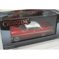 Greenlight 58 Plymouth Fury from movie Christine red/white 1/43 M/B