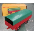 French Dinky 70 Covered Trailer red with green canopy