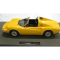 Top Marques 1/12 Ferrari Dino 246 GTS in yellow. 100 pieces