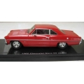 Ace 09D '66 Chevy Nova red with red interior, 1/43 Limited