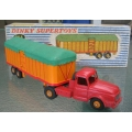 French Dinky 36B Willeme Tractor and covered trailer
